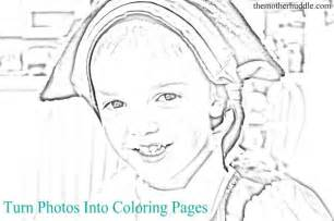 turn a photo into a coloring page turn photos into coloring pages tutorials crafts