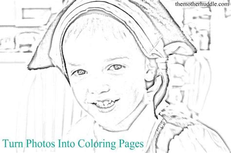Turn Your Picture Into A Coloring Page For Free turn photo into coloring page coloring pages