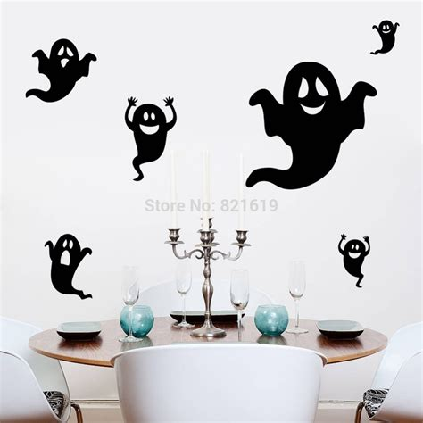 Wall Sticker Removable 3d Horror Ghost Series 4 creative ghost wall sticker diy room