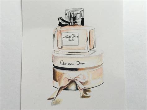 Miss Perfume Bottle drawing miss perfume bottle