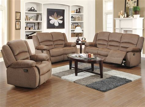 living room with two recliners two couches home red barrel studio maxine 3 piece living room set reviews