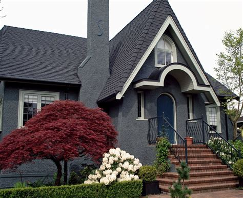 grey house paint gray house with black shutters best ideas with images