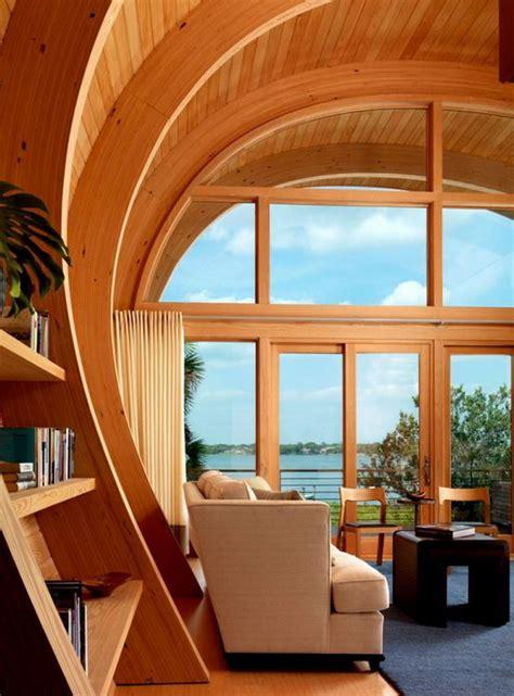 beautiful  organic house  unique structure design swan