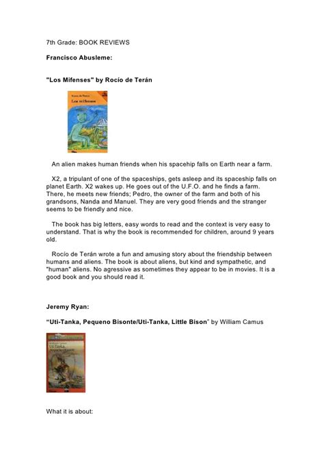 book reports for 7th grade book report format 7th grade articleeducation x fc2