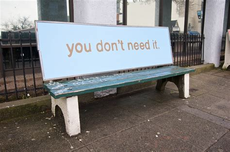 bus benches advertising anti advertising agency bus stop bench