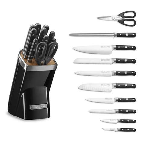 kitchenaid  piece professional knife set onyx black