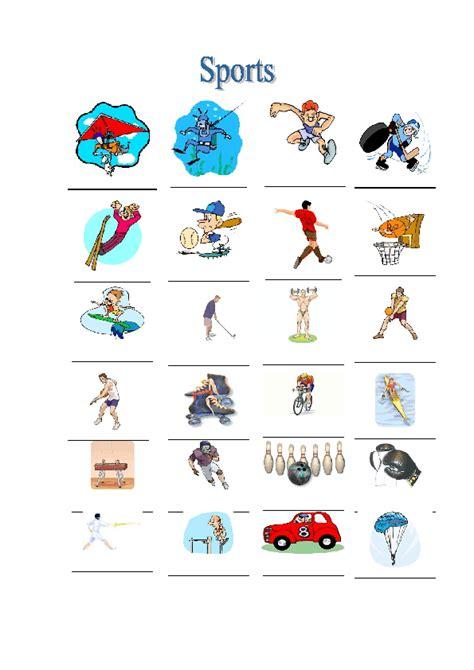 Sports Vocabulary Worksheet by Sports