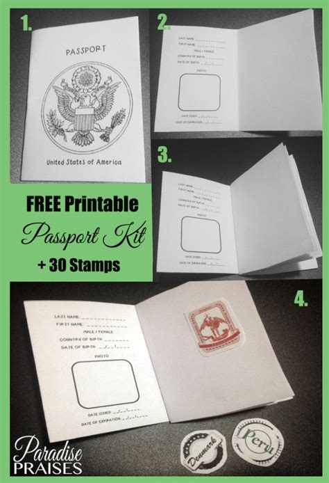 Free Printable Passport St Activity Barn Kultur Och Kartor Preschool Passport Template