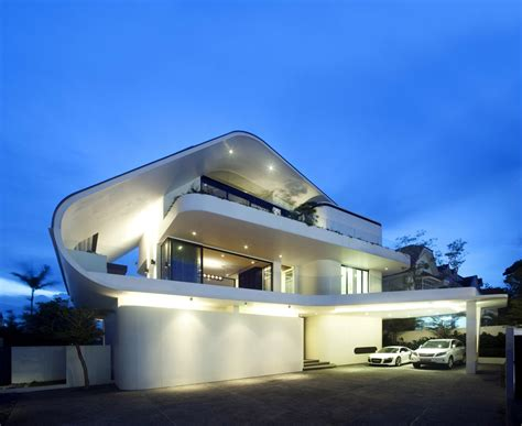 futuristic homes ninety7 siglap road house by aamer architects