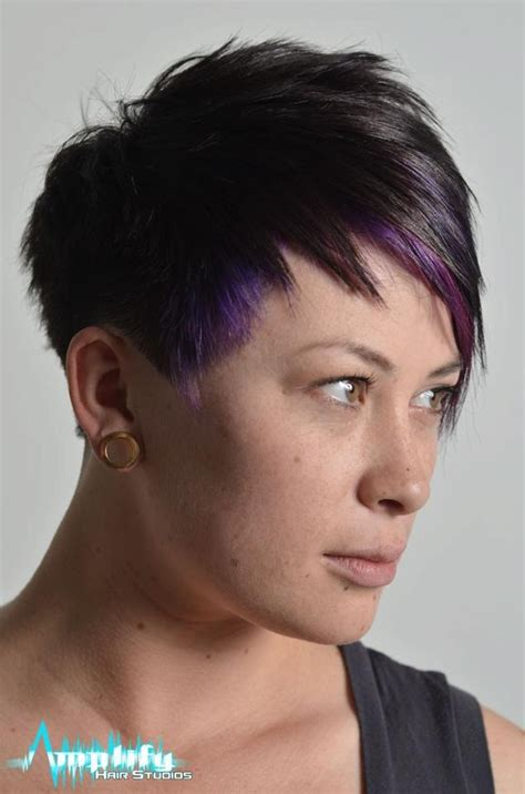 ppictures pf extreme short haircuts a short straight hairstyle with swept bangs and extreme