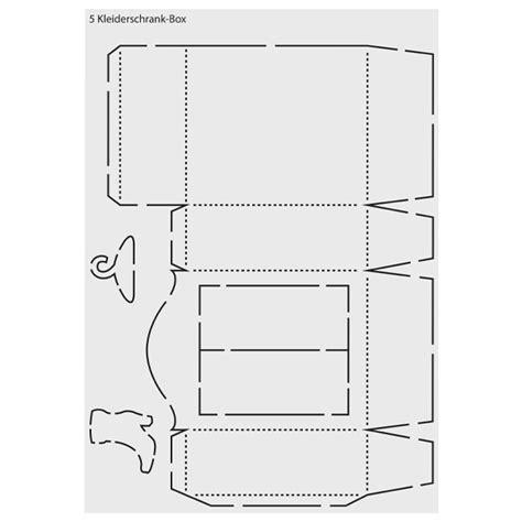 schrank aus pappe basteln design schablone quot kleiderschrank box quot din a3 schablonen