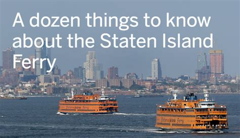 College Of Staten Island Letter Of Recommendation 12 Things To About The Staten Island Ferry Silive