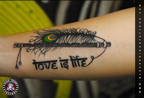 flute tattoo best studio in india designer ahmedabad