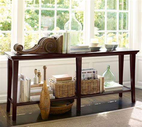 pottery barn sofa table pottery barn sofa table reclaimed wood console