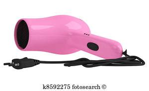 Pink Hair Dryer Clip dryer illustrations and stock 163 dryer