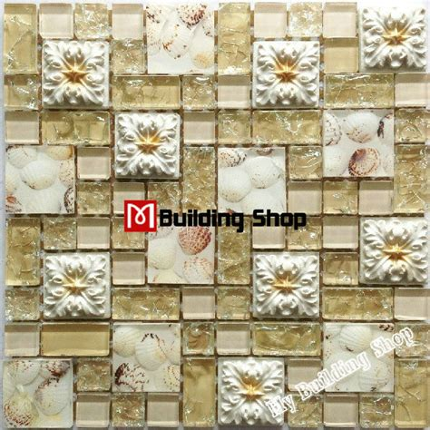 3d glass wall tile backsplash resin mosaic tiles rnmt047