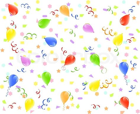 Balloon Decoration At Home by Vector Illustration Of A Birthday Background With Balloons