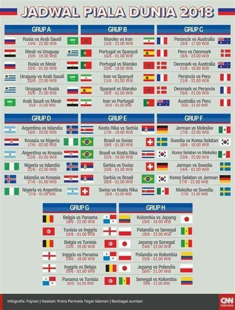 desain jadwal waktu pertandingan piala dunia rusia 2018