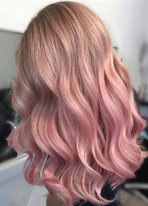 rose gold blonde hair color 65 rose gold hair color ideas for 2017 rose gold hair
