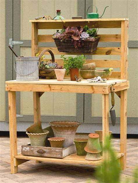 build potting bench diy pallet potting benches pallets designs