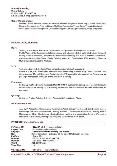 scm functional consultant resume oracle scm functional consultant resume exle resume lovely