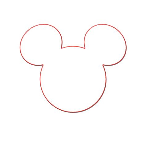 mickey mouse ears template clipart best
