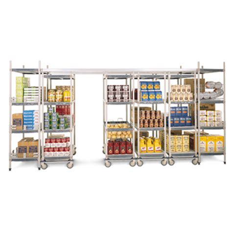 Shelf Track System by Overhead Track Shelving System Metro