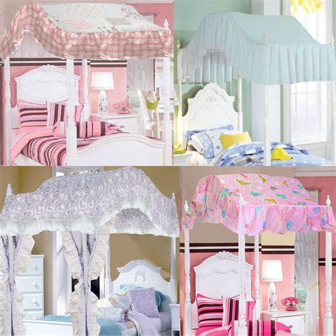 canopy for girls bedroom girls bedroom canopy barbie ballerina bows and plaid butterfly lace canopies ebay
