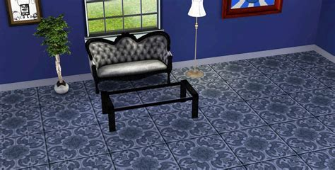 Mod The Sims   Ornate Hand Painted Floor Tile Set