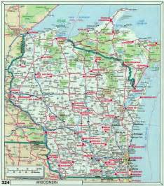 map of highways in large roads and highways map of wisconsin state with