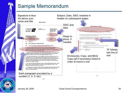 Coast Guard Business Letter Template coast guard correspondence