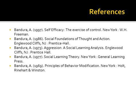 Behavior Modification Bandura by Social Learning Theory Bandura Ppt