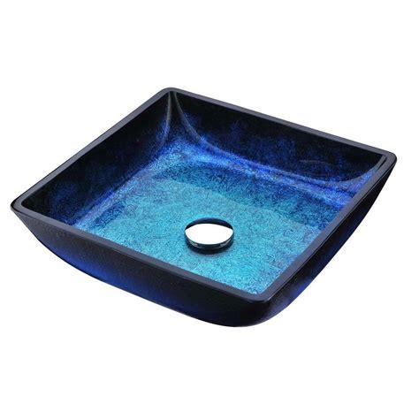 bathroom ls home depot anzzi viace series deco glass vessel sink in blazing blue