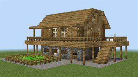 farm house minecraft minecraft how to build a farm house youtube