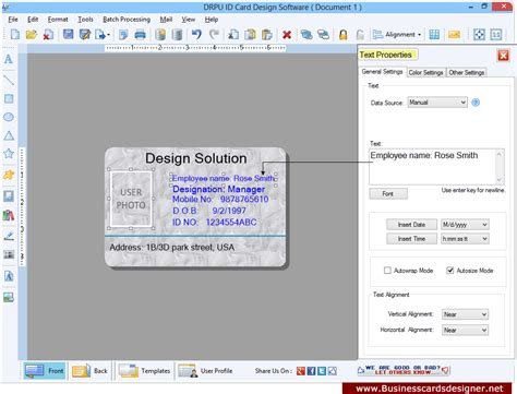mac id card design software screenshots for designing and id cards designer software screenshots helps to know