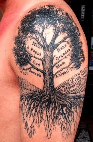 tattoo deceased family member realistic old dead tree with a tire swing tattoo