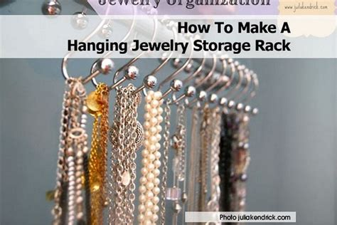 how to make a hanging jewelry organizer how to make a hanging jewelry storage rack