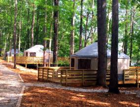 Treehouse Camping Georgia - escape atlanta by camping in a yurt a treehouse or a dome wheretraveler