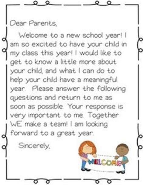 1000 ideas about student welcome letters on