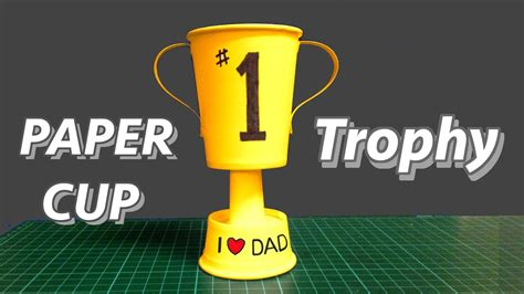 How To Make A Paper Trophy - paper cup trophy kid s diy great s day gift