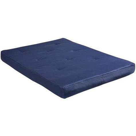 walmart futon mattress 8 quot full size futon mattress navy walmart com