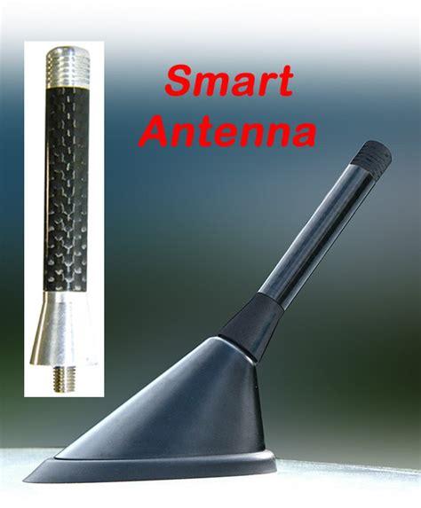 smart car antenna silver carbon stubby aerial nissan
