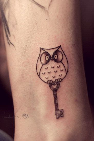 owl tattoo with key meaning bird owl and key tattoo get inspired tattoos