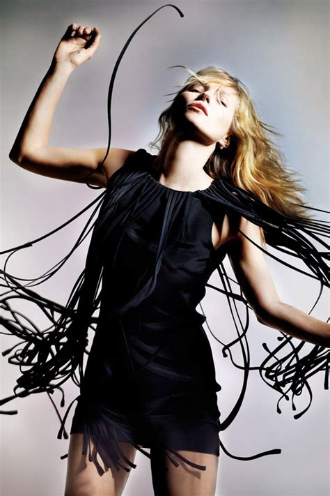 More Kate Moss For Topshop Stock To Go At 4pm Gmt Today by Topshop Kate Moss Black Fringe Tassel Dress Uk8