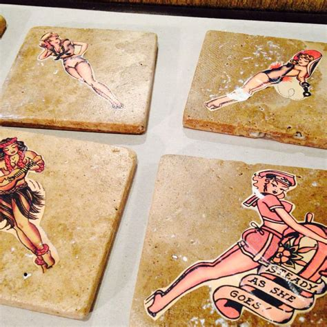 sailor jerry home decor diy sailor jerry coasters sailor jerry labels