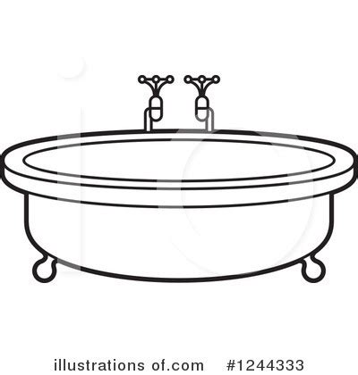 bathtub outline tub clipart 76