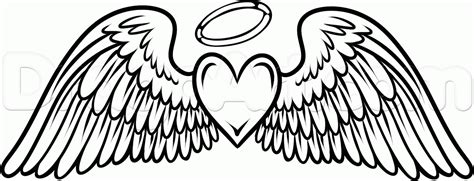coloring pages heart with wings coloring pages of crosses with wings how to draw angel