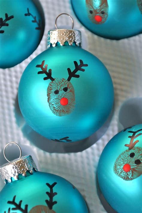 christmas goodness reindeer thumbprint ornaments