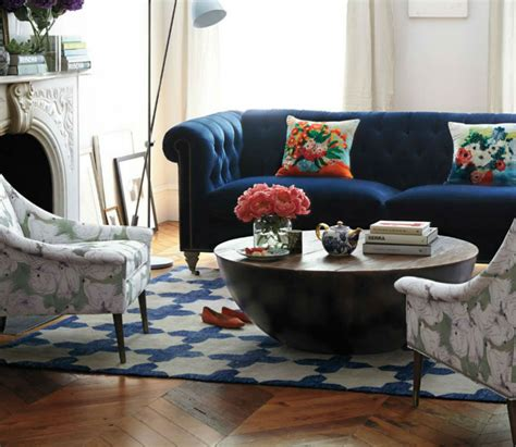 Living Room Ideas With Chesterfield Sofa Interior Design Tips Blue Velvet Chesterfield Sofa