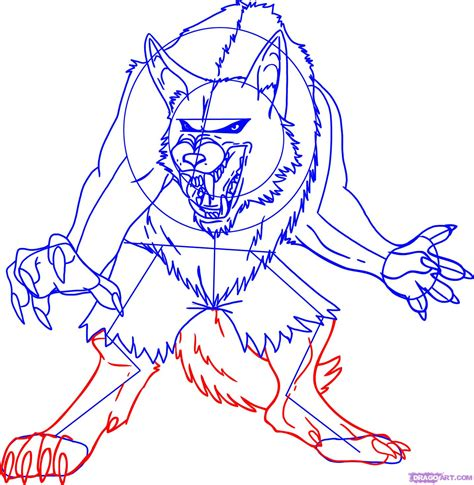 werewolf drawing tutorial how to draw a cartoon werewolf step by step werewolves